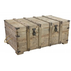 Vintage Large Weathered Pine Chest Coffee Table