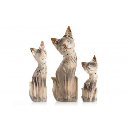 Set of 3 Small Cream Cats