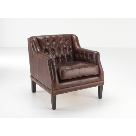 leather club chair brown leather tub chair button back leather
