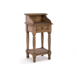 Beach House 1 Drawer Side Table with Shelf