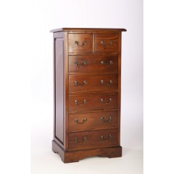 Mahogany Two over Five Chest of Drawers