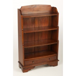 Mahogany Village Waterfall Bookcase - low stock