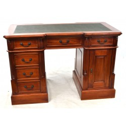 Mahogany Village Small Desk with Green Top