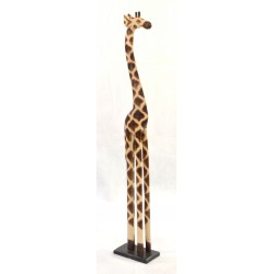 Giraffe ornament made from solid wood and standing 1.2m tall