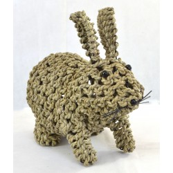 Rabbit made from seagrass with ears up