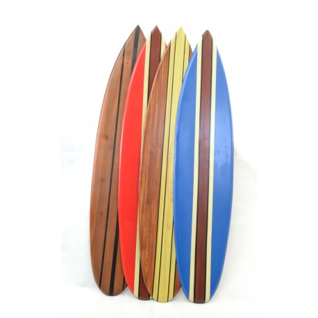 Medium Wooden Ornamental Surfboard available i Red, Blue, Natural Wood and Airbrushed Wood