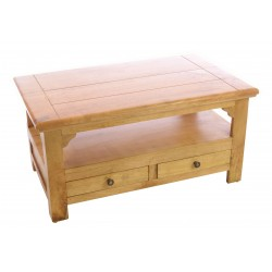 Light Mango Wood Rustic Style Coffee Table