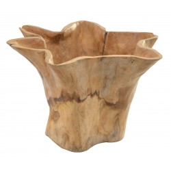 Tree Root Teak Wavy Edge Pot