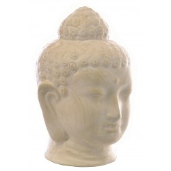 White terracotta buddha head