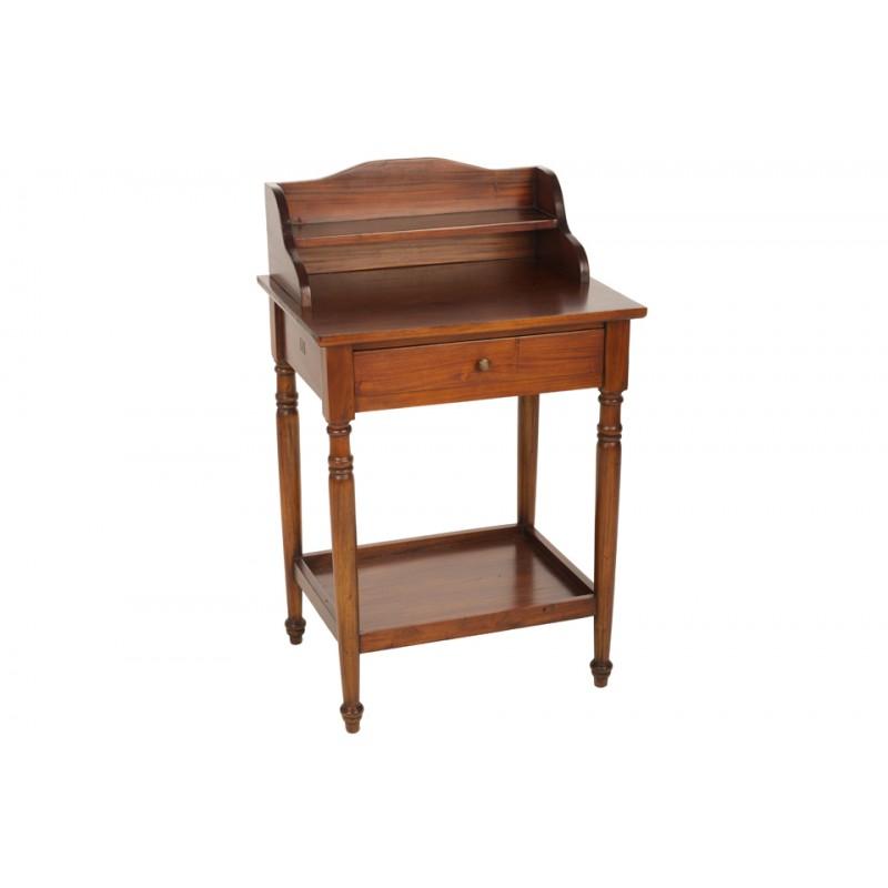 Mahogany Bureau with a simple shelf on the desk and lower shelf below