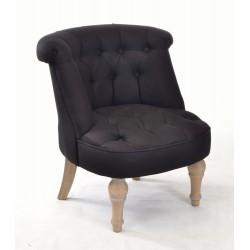buy a black small bedroom chair with linen upholstery solid wood legs