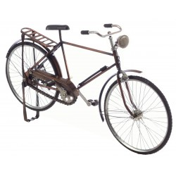 Ornamental gents bicycle made in metal with full working pedal chain drive amd steering