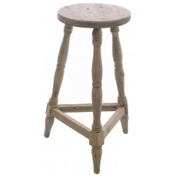 Bleached Mahogany Tall Wooden Stool