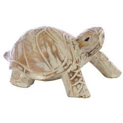 Wooden White Turtle ornament