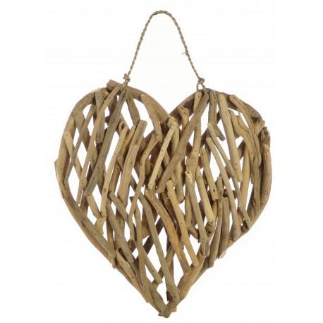 Driftwood Heart Plaque