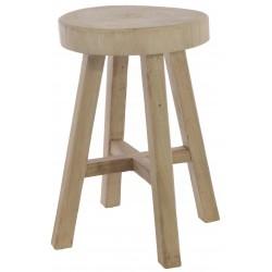 Bleached Mahogany Log Seat Stool