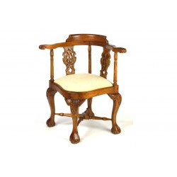 Mahogany Corner Chair with Cream Pad