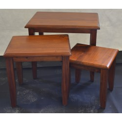 Victorian Nest of Tables with Plain Leg