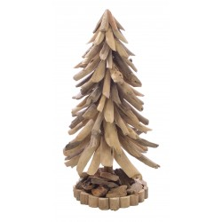 Driftwood Christmas Tree made from reclaimed wood with a rustic woodland feel