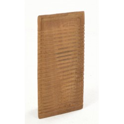Rustic teak antique washboard with a worn plain unpainted wood finish