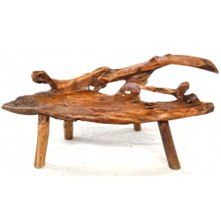 Solid wood bench made from teak root bench with an idividual style and shape