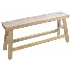 Terstle style bench made from solid wood with a stripped back wood finish