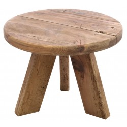 Reclaimed Pine Round Lamp Table