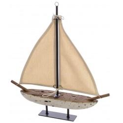 Fair Isle Small White Sail Boat