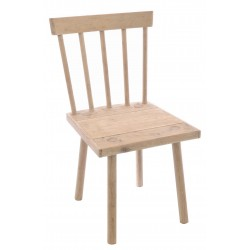 Bleached Mahogany Square Seat Chair