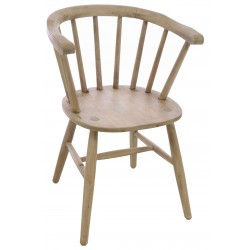 Bleached Mahogany Carver Chair