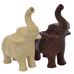 Small Standing Terracotta Elephant in white or brown colouring