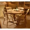 Bleached Mahogany Farmhouse Chair