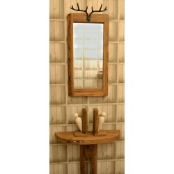 Fair Isle Stags Head Mirror - out of stock